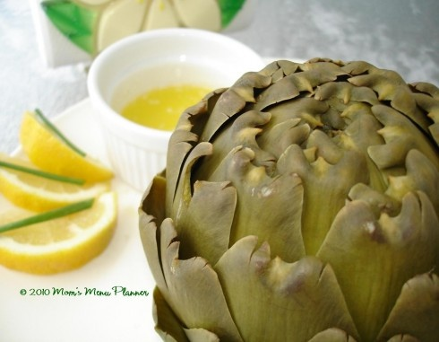 Steamed Artichoke recipe | Apps and Side Dishes | Pinterest