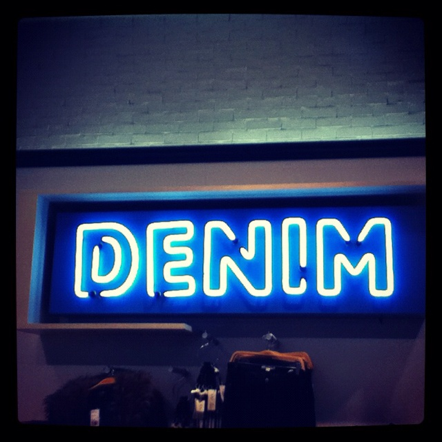 Denim sign in Forever 21 at The Grove