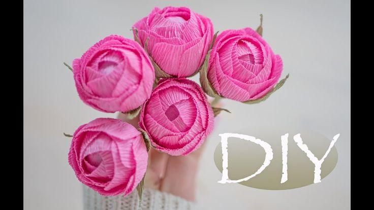 Маленькие цветы из гофрированной бумаги своими руками мастер класс 11