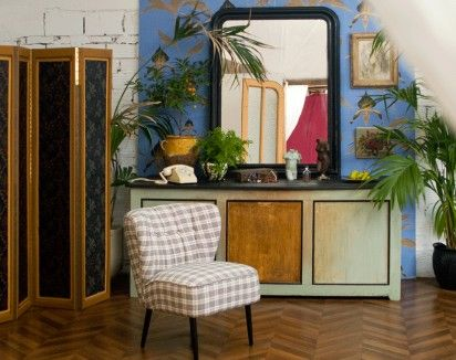 Grand miroir noir Louis-Philippe  Vintage & Retro Mirrors  Pinterest