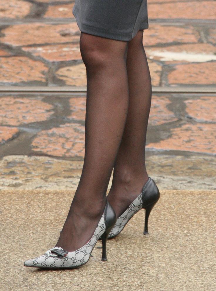 Pantyhose High Heels