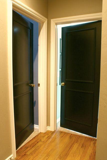 Black Interior Doors With Gold Hardware My Taste Home Pinterest