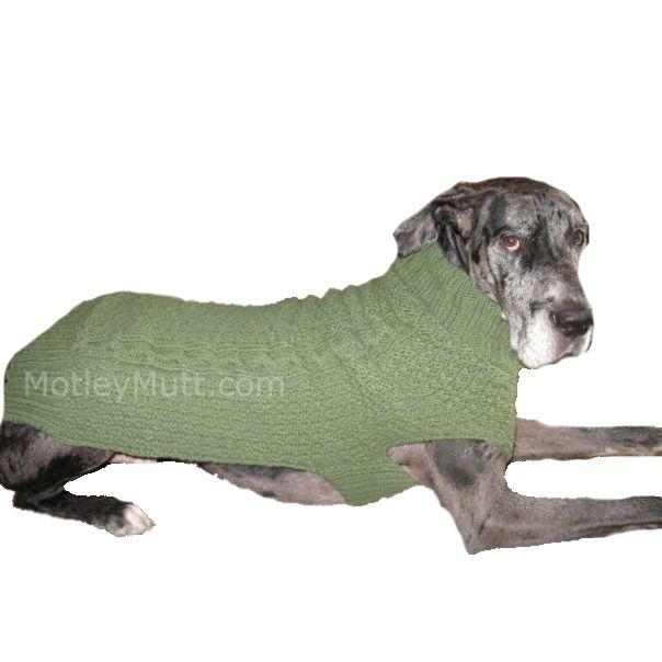 Crochet Sweater For Great Dane - Sweater Grey