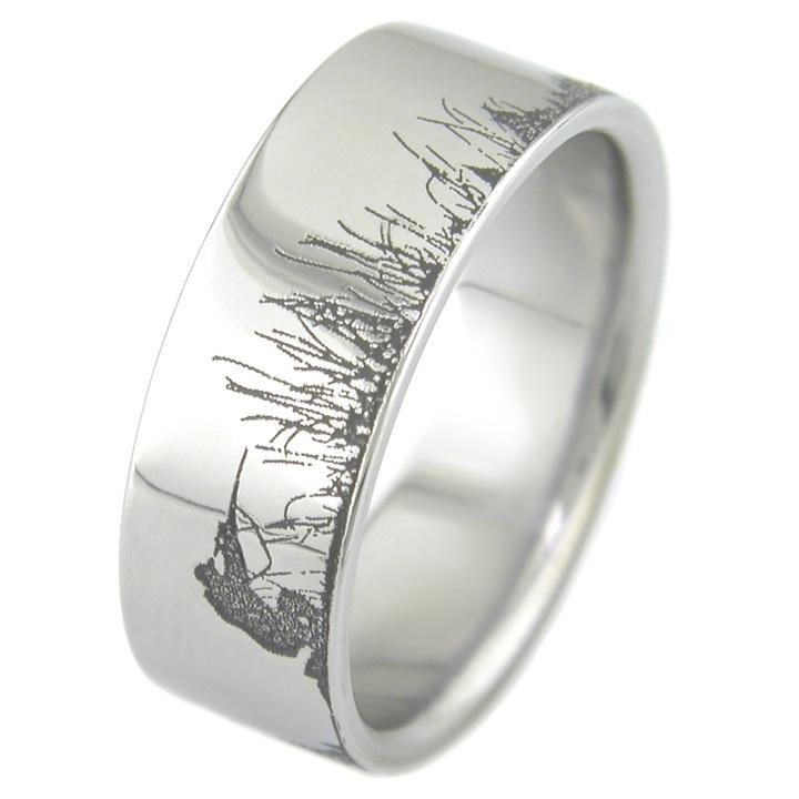 Mens Hunting Wedding Rings 002 - Mens Hunting Wedding Rings