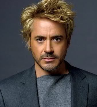 rock n roll hairstyles : Robert Downey Jr. - gone blond for