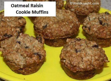 Oatmeal Raisin Cookie Muffins #Recipe ~ Planet Weidknecht