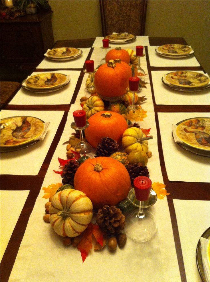 Thanksgiving table centerpiece decor holiday ideas