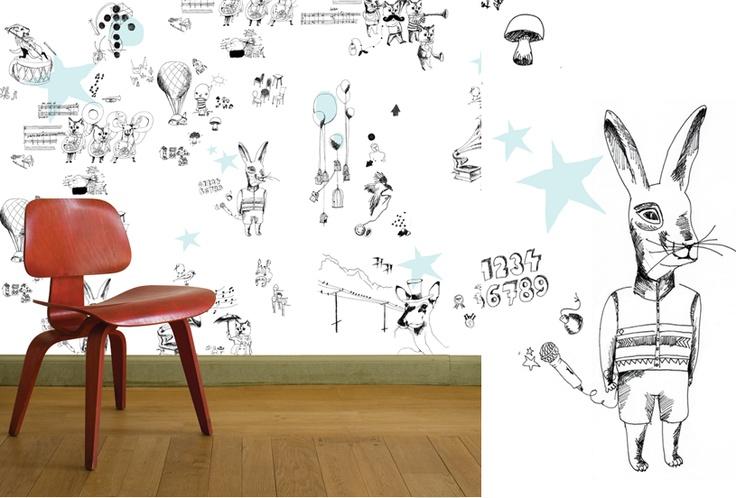 Magneet behang grafisch for the home pinterest - Grafisch behang ...