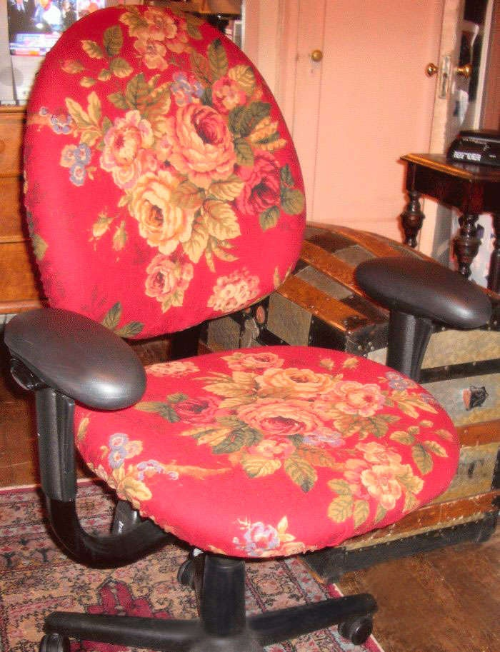 Quick amp dirty office chair cover crafts and diy pinterest