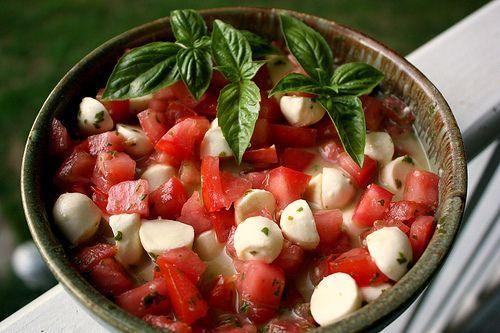 Mini Caprese Salad | FOOD | Pinterest