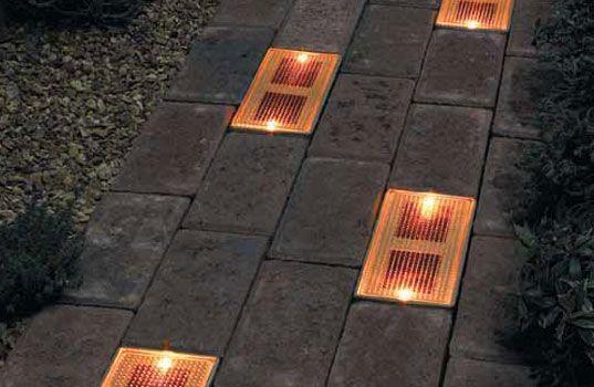 Sun Bricks - solar-powered ground lighting system.