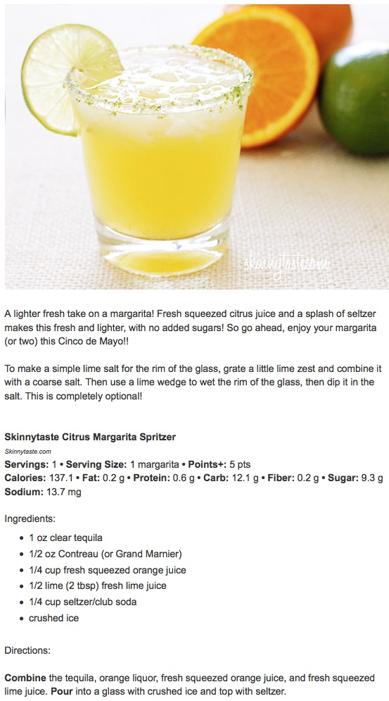 skinnytaste citrus margarita spritzer | Flavors of my life | Pinterest