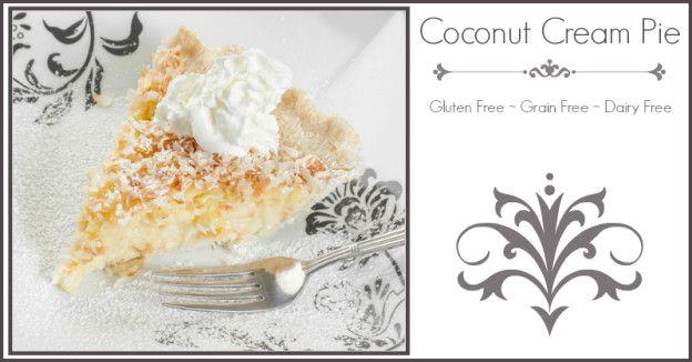 Coconut Cream Pie Ingredients 1 recipe for coconut flour pie crust ...