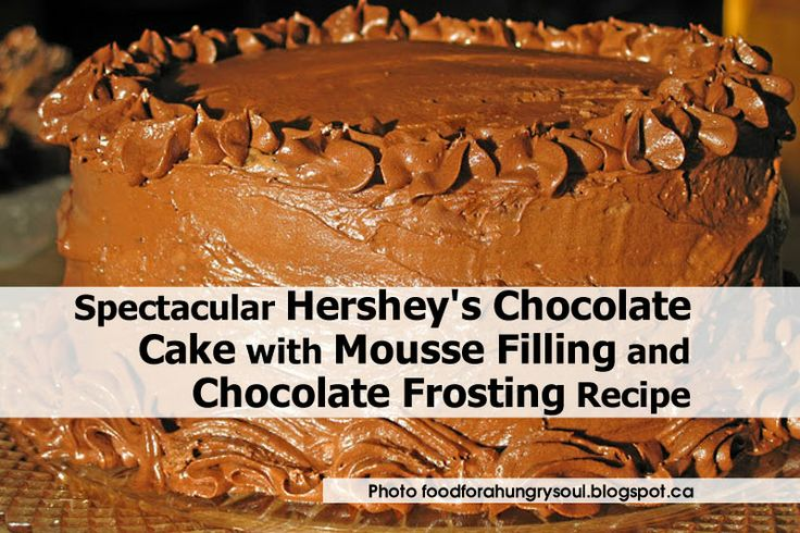 Hershey's Chocolate Cake with Mousse Filling and Chocolate Frosting ...