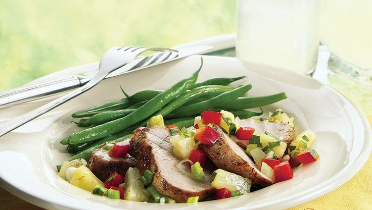 Grilled Pork Tenderloin With Pineapple And Bell Peppers Recipes ...