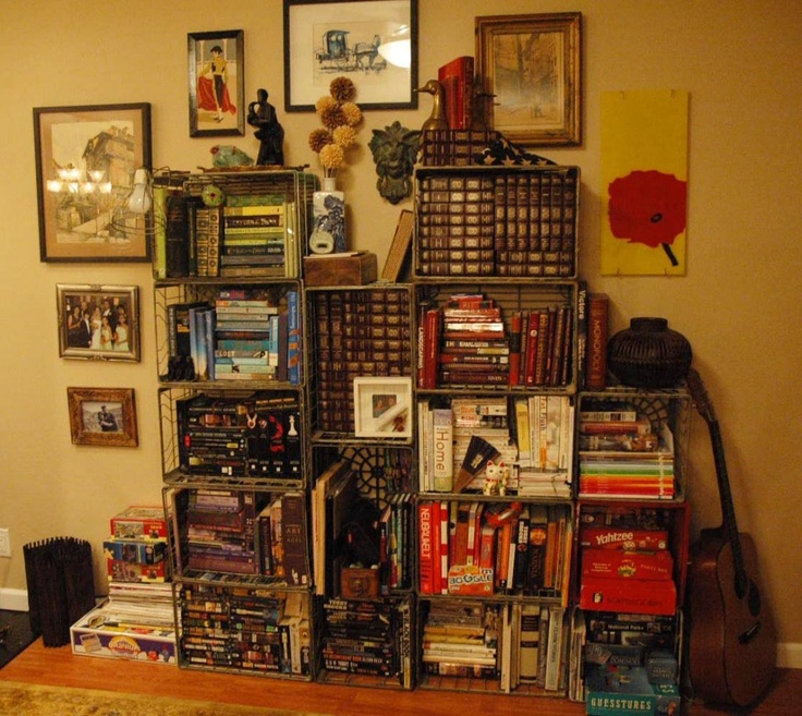 Excellent Milk Crate Shelf  Wooden Crate Ideas  Pinterest