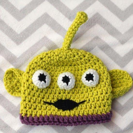 Crocheting The Day Away : Crocheting the Day Away: Alien Hat Crochet Pinterest