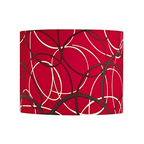 design classics lighting red and grey drum lamp shade with spider. Black Bedroom Furniture Sets. Home Design Ideas
