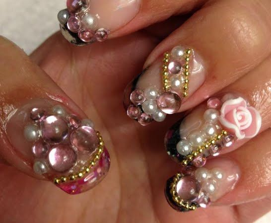 3D nail art | finger nail | Pinterest