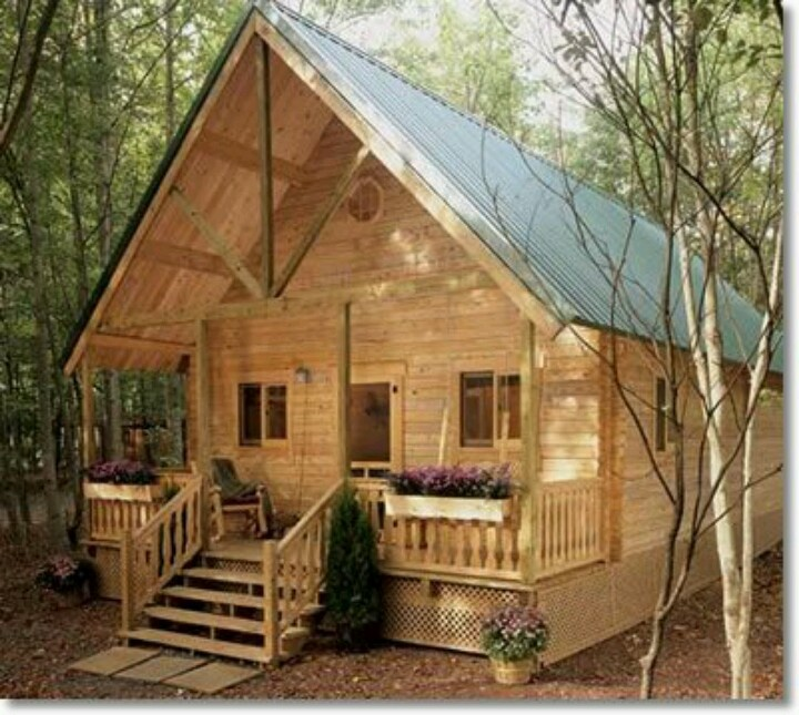 Hunting Cabin Barn Cabin Lake Tree Homes Pinterest