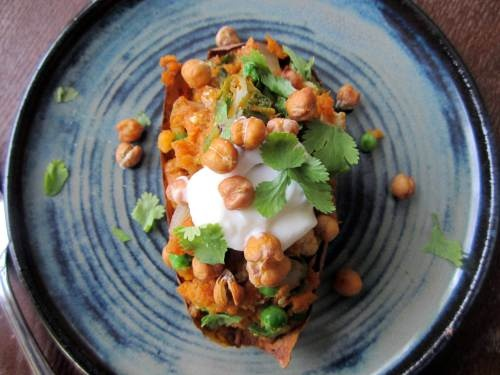 Indian Stuffed Sweet Potatoes | What's for Dinner? | Pinterest