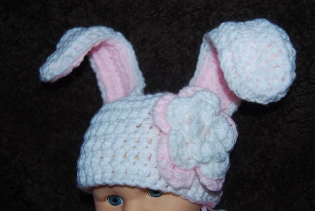Crochet Bunny Hat With Flower Pattern : Crochet a Bunny Hat Free Pattern
