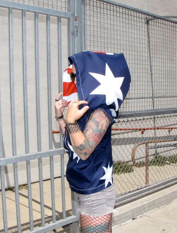 Australian Flag Hoodie womens clothing by RechercheClothing, $119.00
