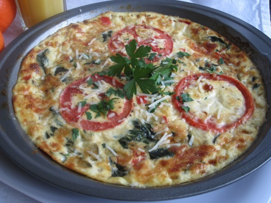 Crustless Quiche With Roasted Vegetables Recipe — Dishmaps