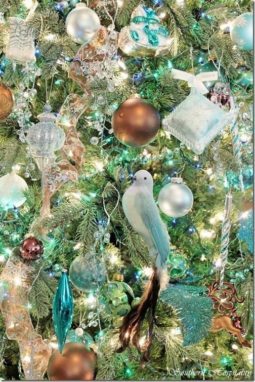 Aqua Copper White And Silver Christmas Decor Pinterest