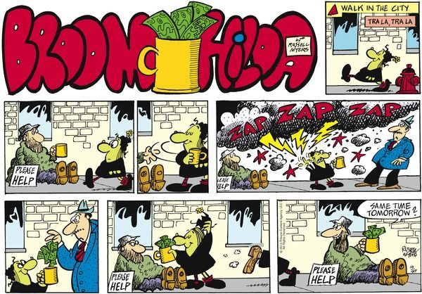 Broom hilda newspaper comics pinterest