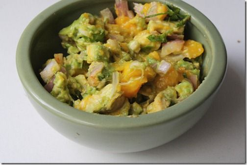 Mango Guacamole -- a sweet summer twist on a favorite snack!