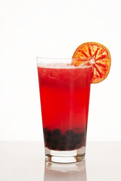 Blood Orange Green Tea Slushie with Boba | Sip + Sup | Pinterest