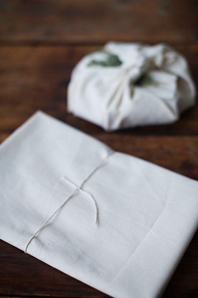 Sunday suppers furoshiki muslin gift wrap 5 sheets
