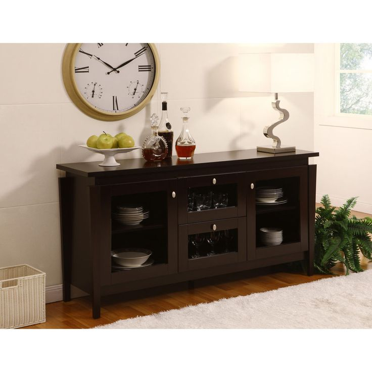 Buffet cabinet sideboard buffet credenza dining room for Dining room buffet