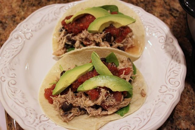 Slowcooker chicken tacos : Simple, CHEAP, and tasty! One of the best ...