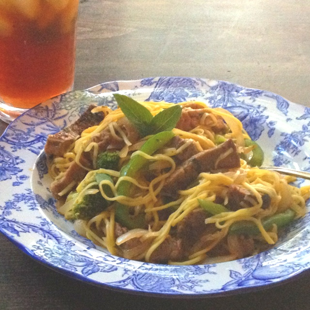 Thai basil beef and noodles | Recipes I want to try | Pinterest
