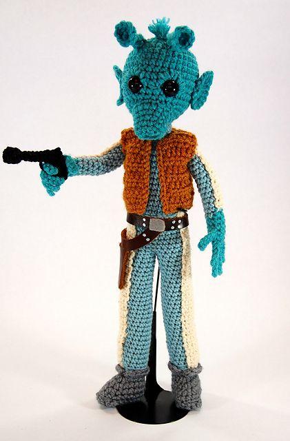 Crochet Patterns Star Wars : Ravelry: Greedo Star Wars Amigurumi Pattern pattern by Allison Hoffman