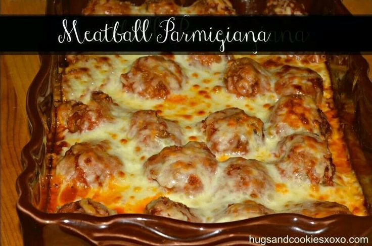 Meatball parmigiana | Recipes | Pinterest