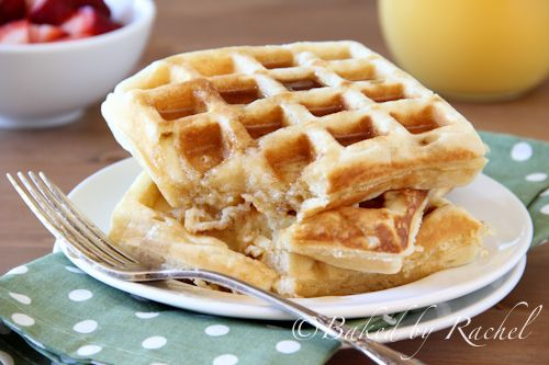 Buttermilk Waffles - Baked by Rachel