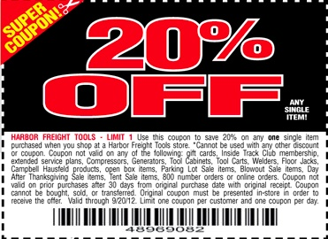 Harbor freight 20 off coupon 2016 printable 2017 2018 best cars
