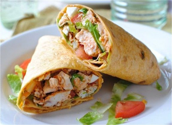 buffalo chicken wrap. anything with hot sauce and bacon has to be ...