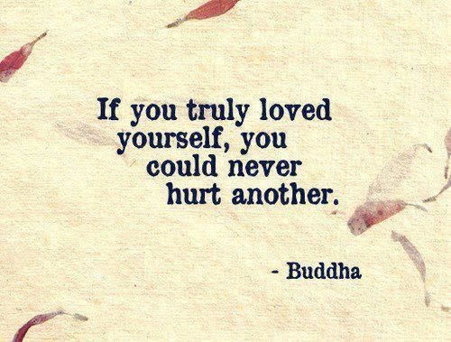 Truth. Learn to love yourself.