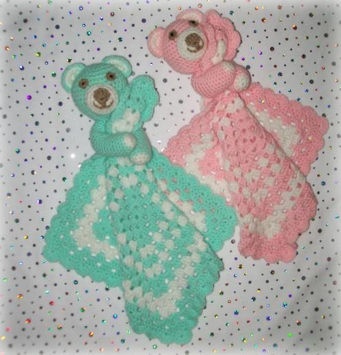 Large Teddy Lovey Crochet Pattern Baby Lovey Blankies Pinterest