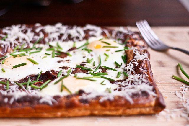 Egg, bacon & chive breakfast tart | Eats | Pinterest
