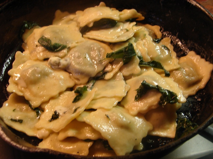 ... Cheese Ravioli With Sage And Garlic Butter Sauce Recipe — Dishmaps