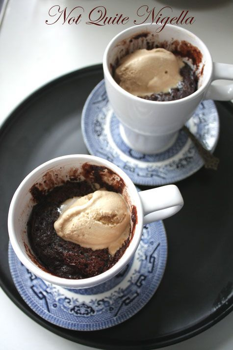 The Five Minute Chocolate Mug Cake | Mug cake | Pinterest