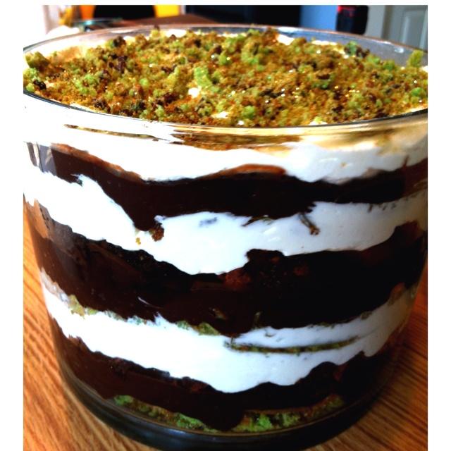 Chocolate Cake, Dark Chocolate Pudding, Green Chocolate Chip Cookies ...