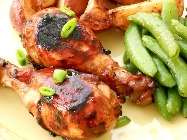 Lake Lure Cottage Kitchen: Asian Glazed Chicken Legs