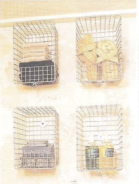 Wire basket bathroom storage bathroom ideas pinterest for Bathroom basket ideas