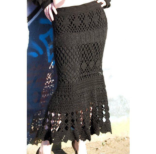 Crochet Patterns Skirt : Maxi skirt crochet, crochet skirt pattern, PATTERN, exquisite design ...